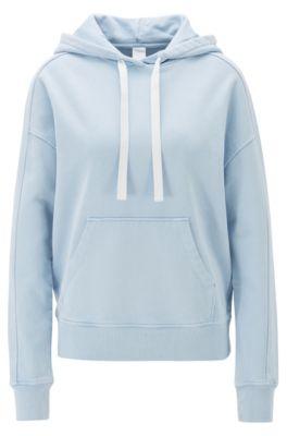 JSY Womens Loose Zip Up Color Block Pullover Hooded Sweatshirts Jacket