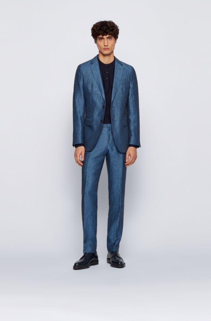 Slim-fit Henley shirt in mercerised cotton