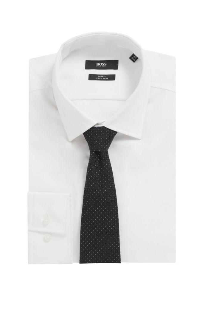 Krawatte aus italienischer Seide mit filigranem Jacquard-Muster
