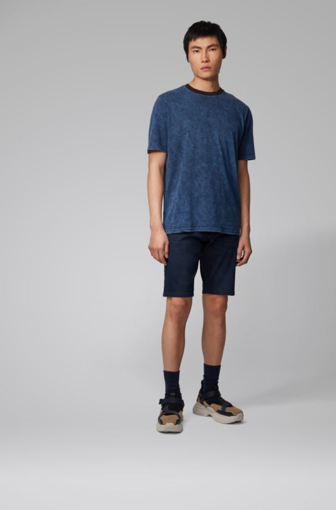 Relaxed-fit T-shirt in cotton with acid-wash finish