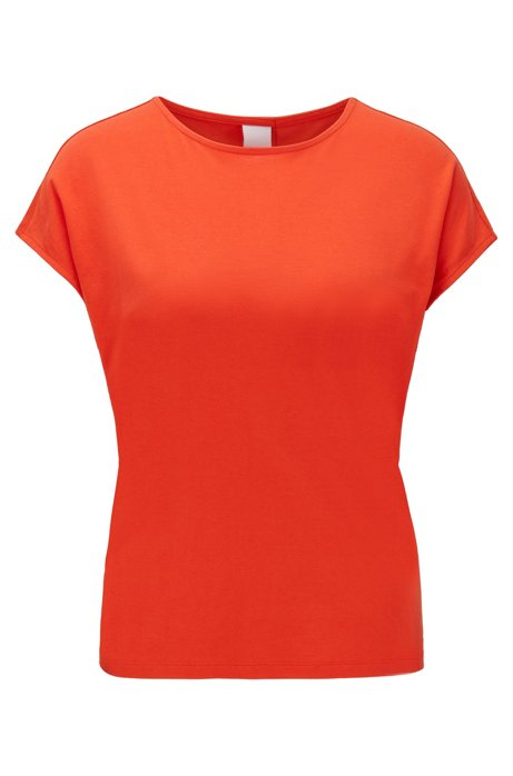 Relaxed-fit T-shirt met label op de rug, Oranje