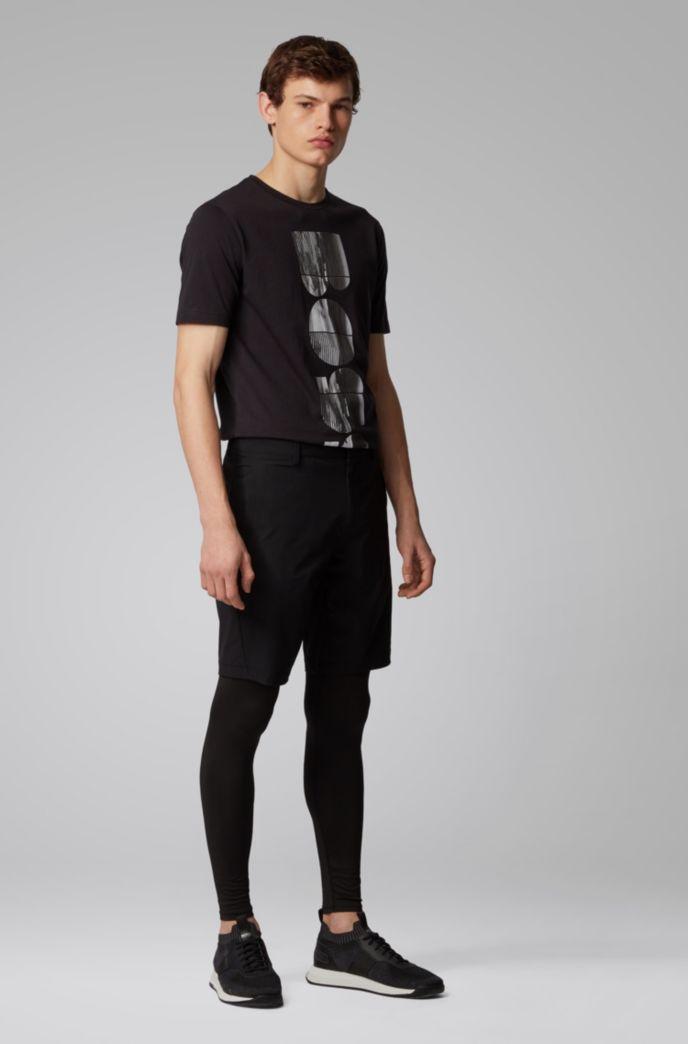 T-Shirt aus Bionic Jersey mit Rundhalsausschnitt und fotografischem Logo-Artwork