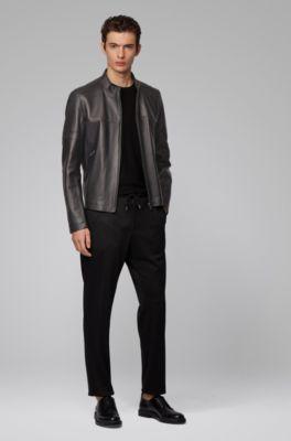 SRHides Mens Fashion Xmen Style Real Leather Jacket