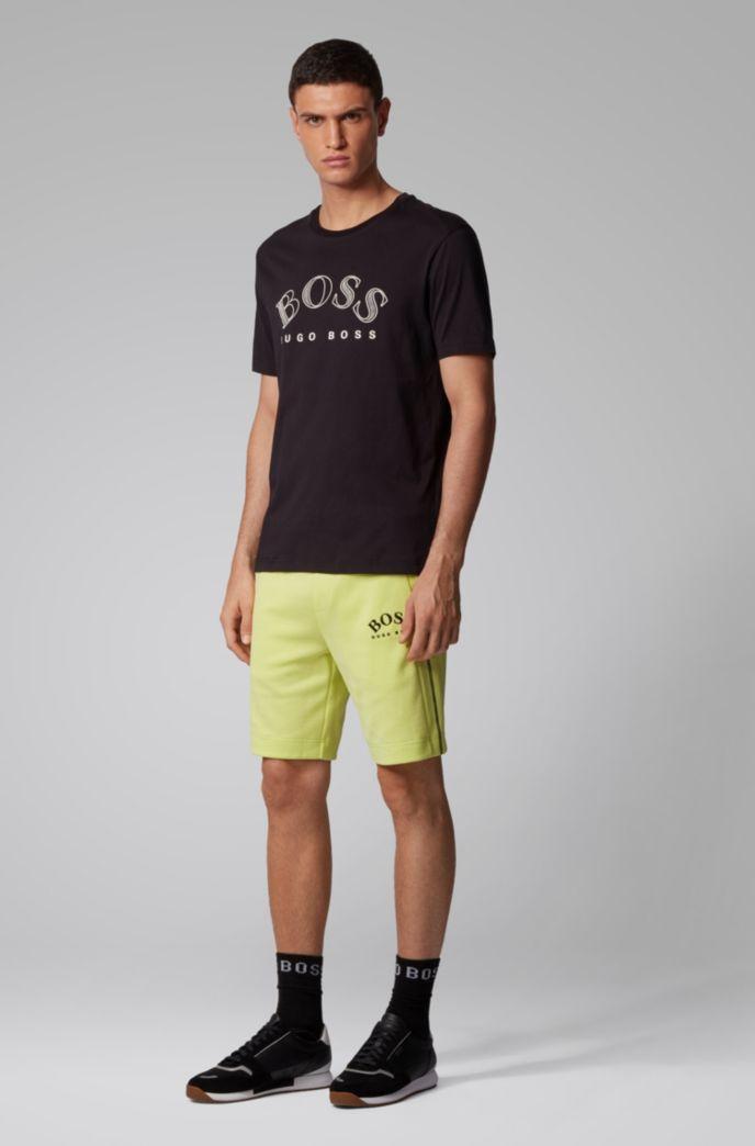 T-shirt en jersey de coton avec logo incurvé imprimé