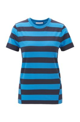 Regular-fit T-shirt with an all-over stripe, Patterned