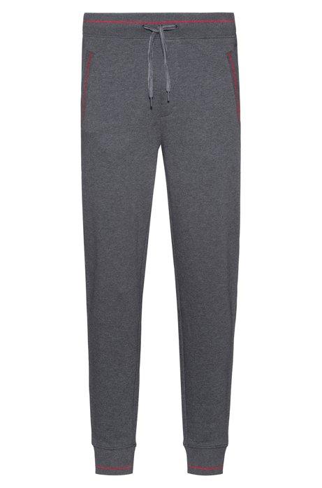 Jogginghose aus French Terry mit kontrastfarbenen Details und Bündchen, Grau
