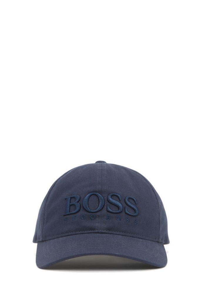 Cap aus Baumwoll-Twill mit dreidimensionaler Logo-Stickerei