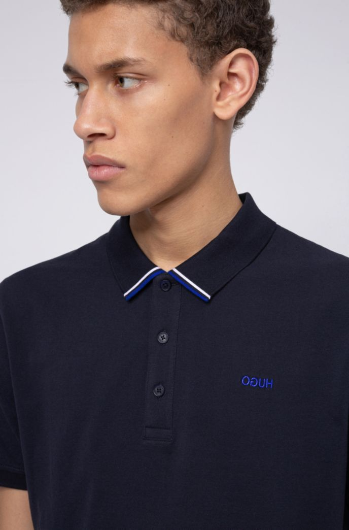 Regular-fit polo shirt in cotton-piqué