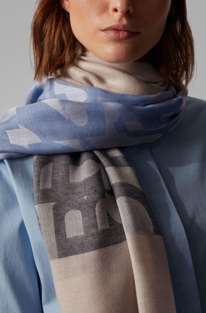 Schal aus Jacquard-Strick mit dekonstruiertem Logo-Muster