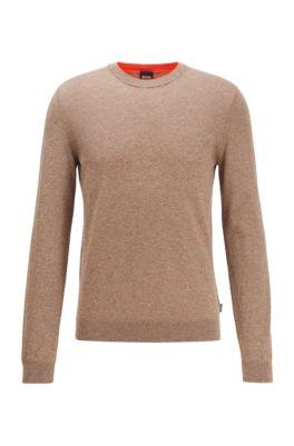 Pullover aus reinem Baumwoll-Jersey , Braun