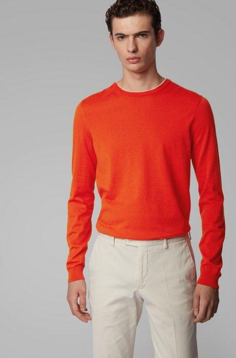 Pullover aus reinem Baumwoll-Jersey , Orange