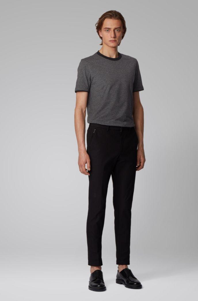 T-Shirt aus Mouliné-Baumwolle mit Kontrast-Details