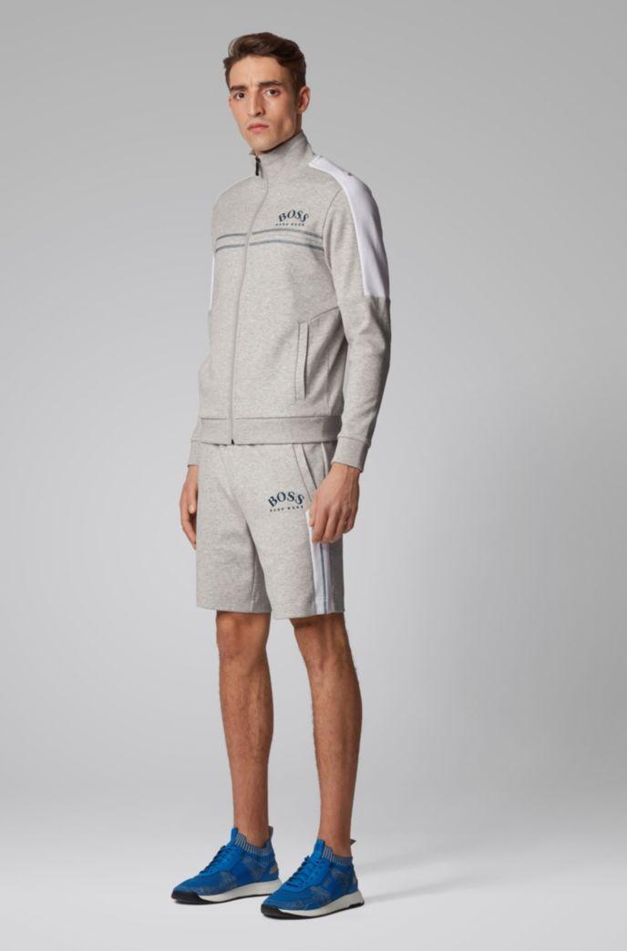 Slim-Fit Shorts aus Jersey mit Kontrast-Details und geschwungenem Logo