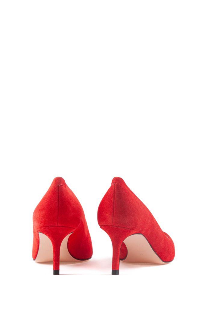 Zapatos de tacón con puntera afilada en ante italiano