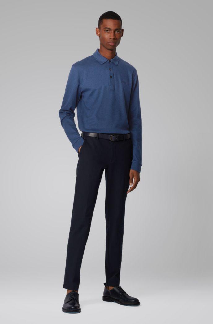 Longsleeve-Poloshirt aus Interlock-Baumwolle