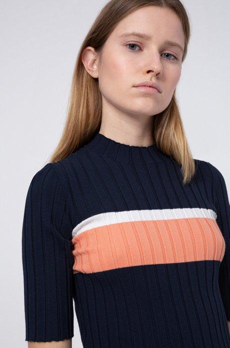 Pullover aus Super-Stretch-Gewebe, Dunkelblau