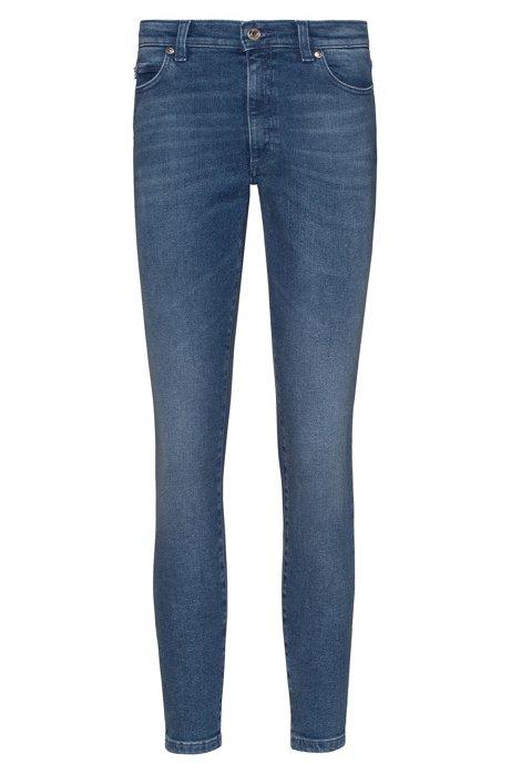 Jean LOU Skinny Fit à taille haute en denim stretch, Bleu