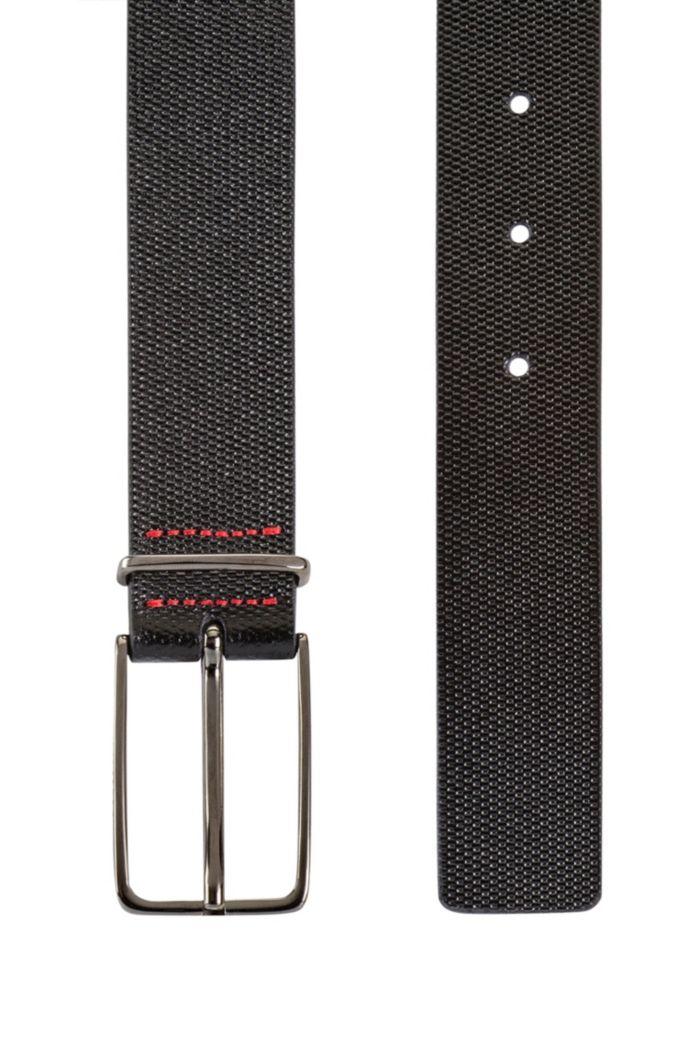 Gürtel aus geprägtem italienischem Leder mit Dornschließe