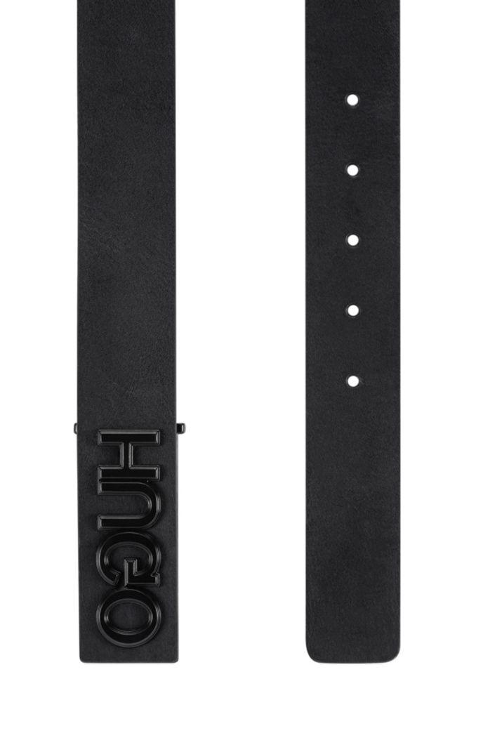 In Italien gefertigter Ledergürtel mit Reversed-Logo