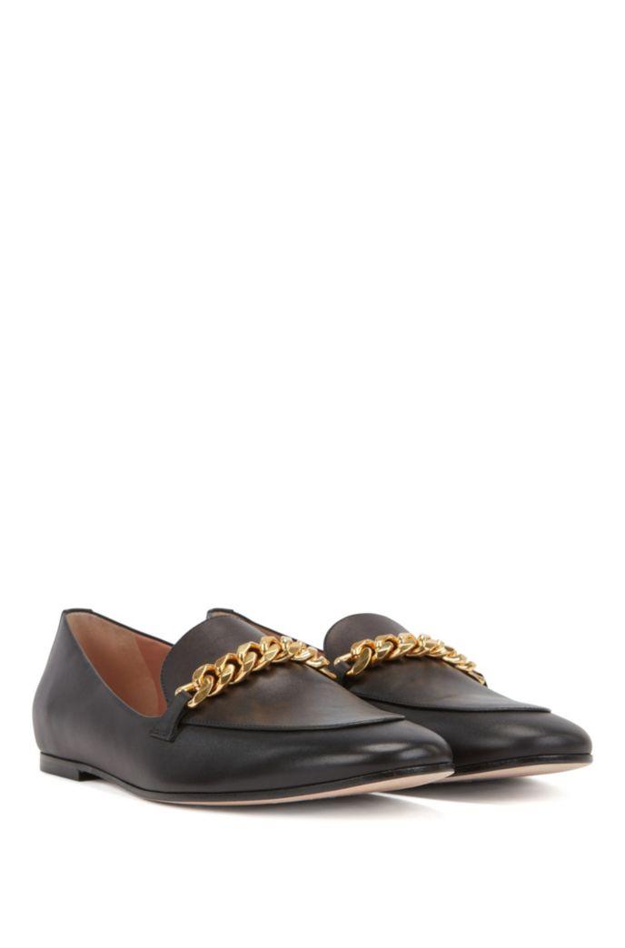 Loafers aus italienischem Leder mit Kette