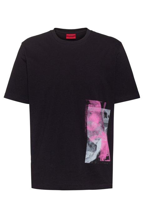 T-shirt Relaxed Fit en coton, avec imprimé de la collection Berlin, Noir