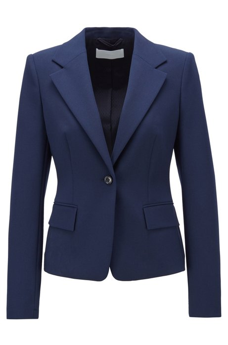 Veste Regular Fit en twill stretch portugais, Bleu