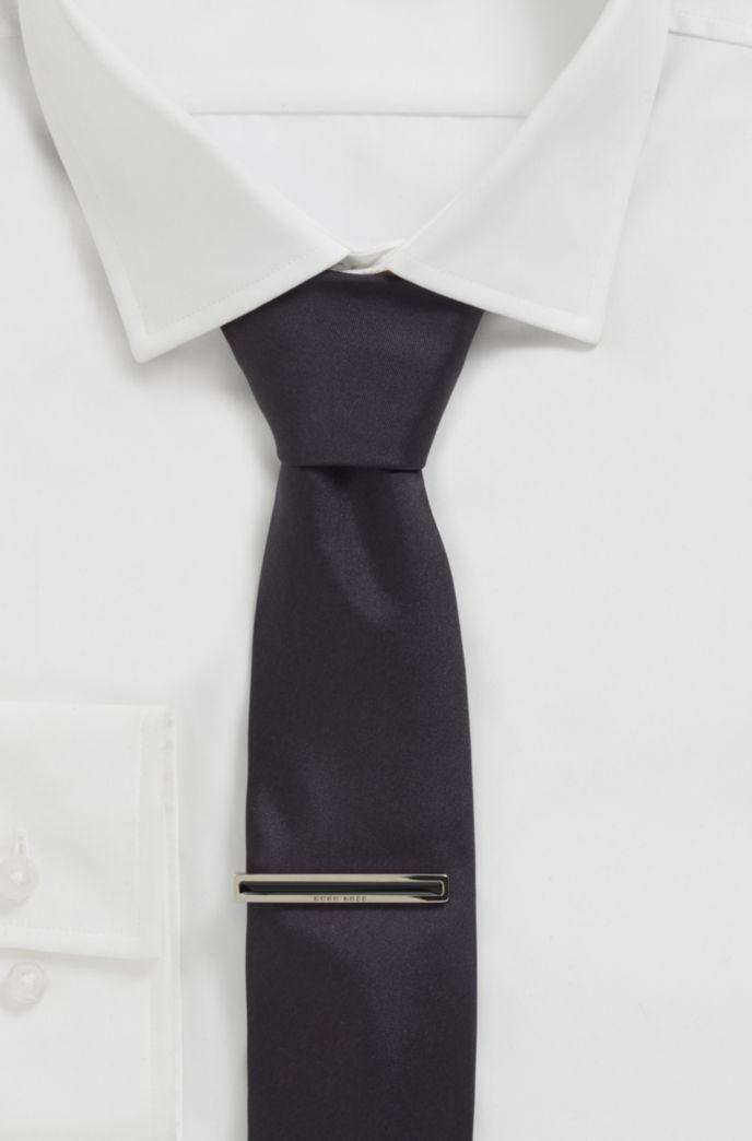 Pince à cravate à logo gravé et bande en émail
