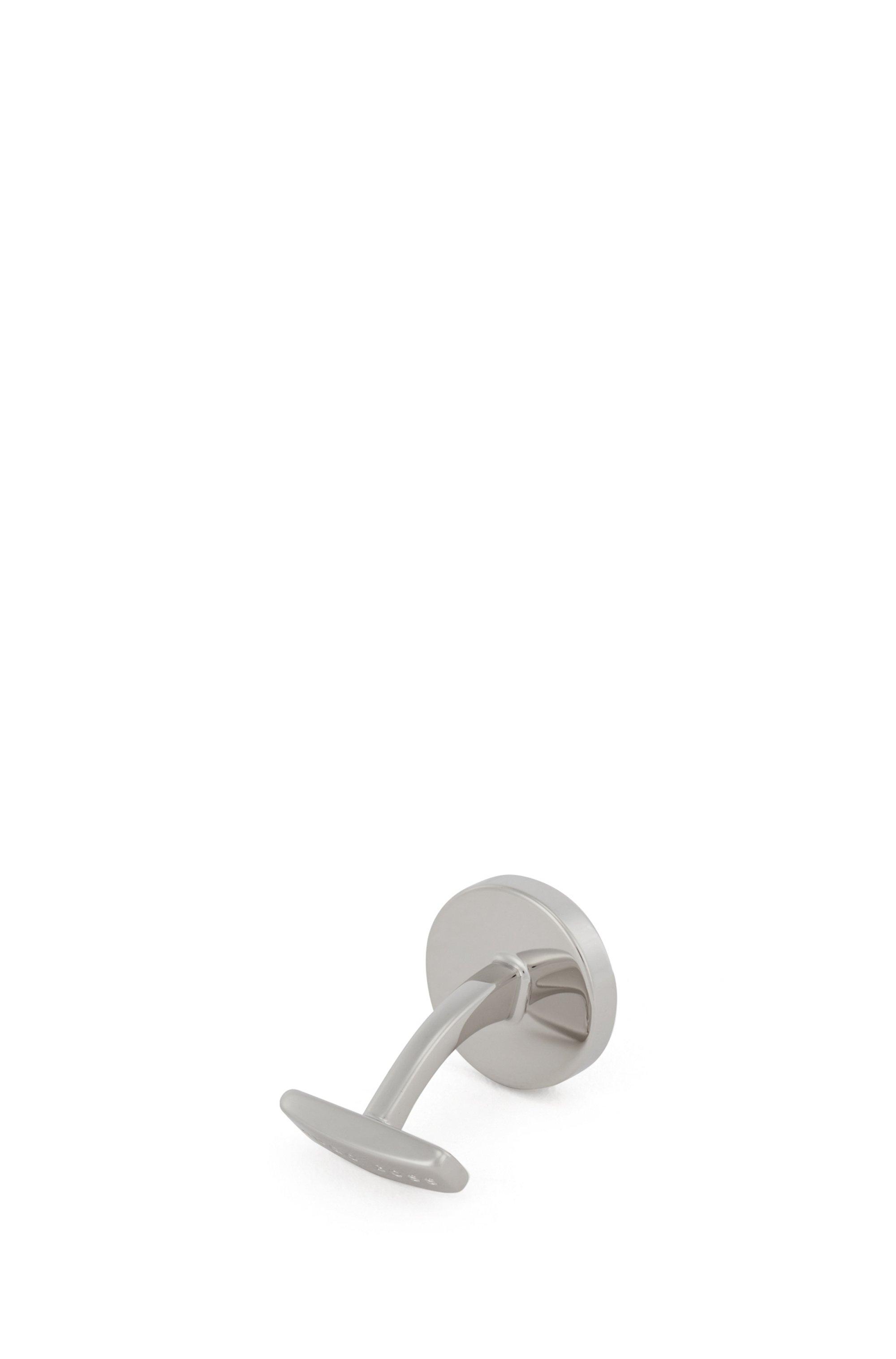 Round cufflinks with enamel core