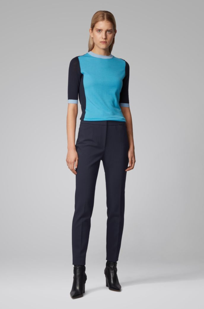 Slim-fit trousers in a stretch-cotton blend