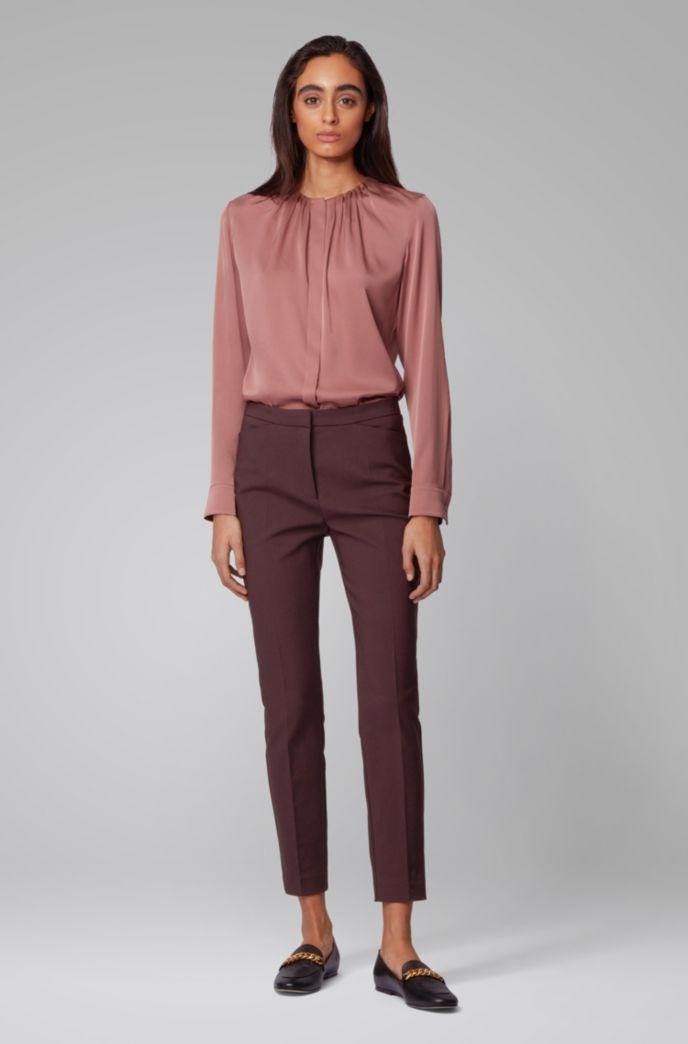 Slim-fit trousers in a stretch-cotton blend