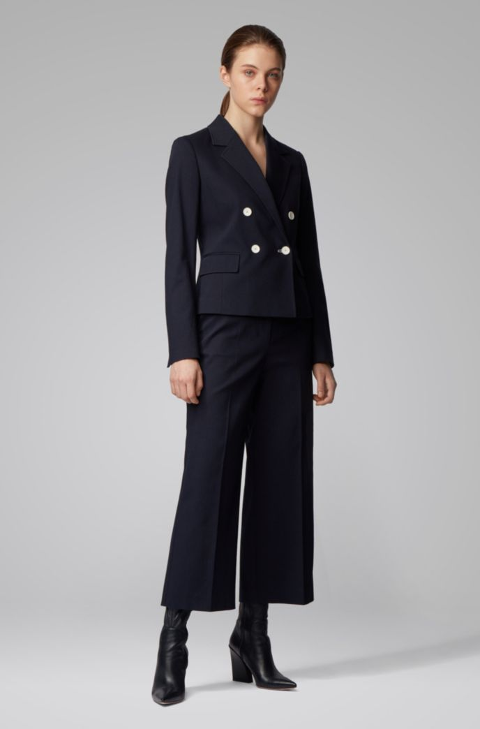 Veste Regular Fit en coton stretch structuré