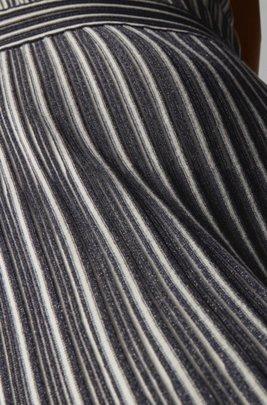 Vestito in maglia senza maniche con strato inferiore rimovibile, A disegni