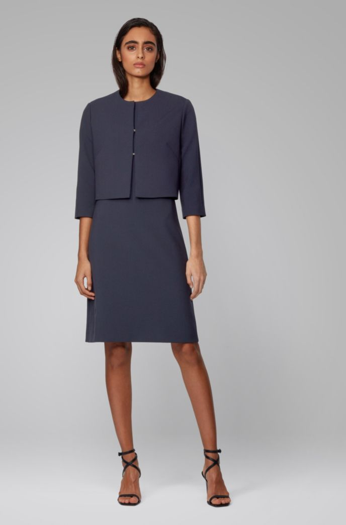 Regular-fit jacket in double-faced stretch fabric