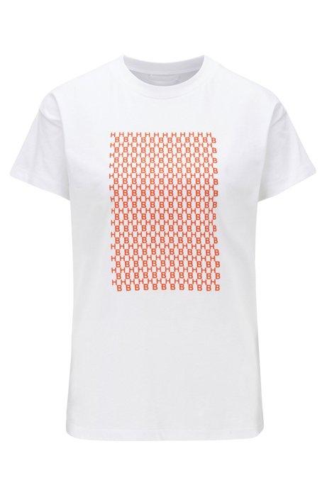 Camiseta relaxed fit en algodón con las iniciales estampadas, Fantasía