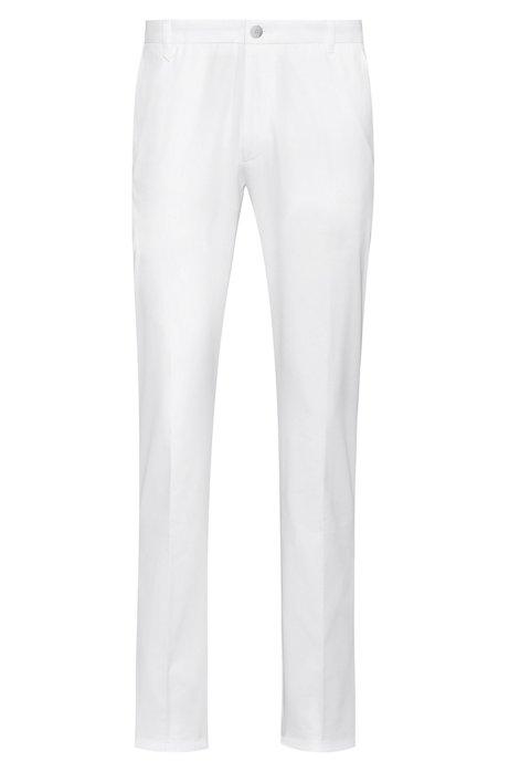 Extra slim-fit broek in een twill van stretchkatoen, Wit