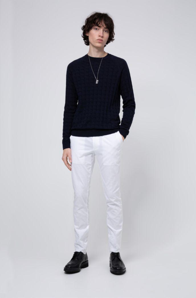 Extra Slim-Fit Hose aus elastischem Baumwoll-Twill