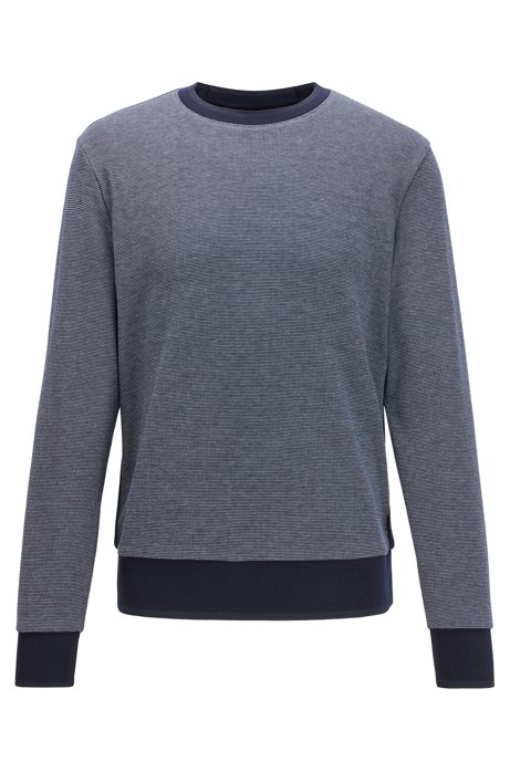 Two-tone sweater with high-shine tipping, Dark Blue