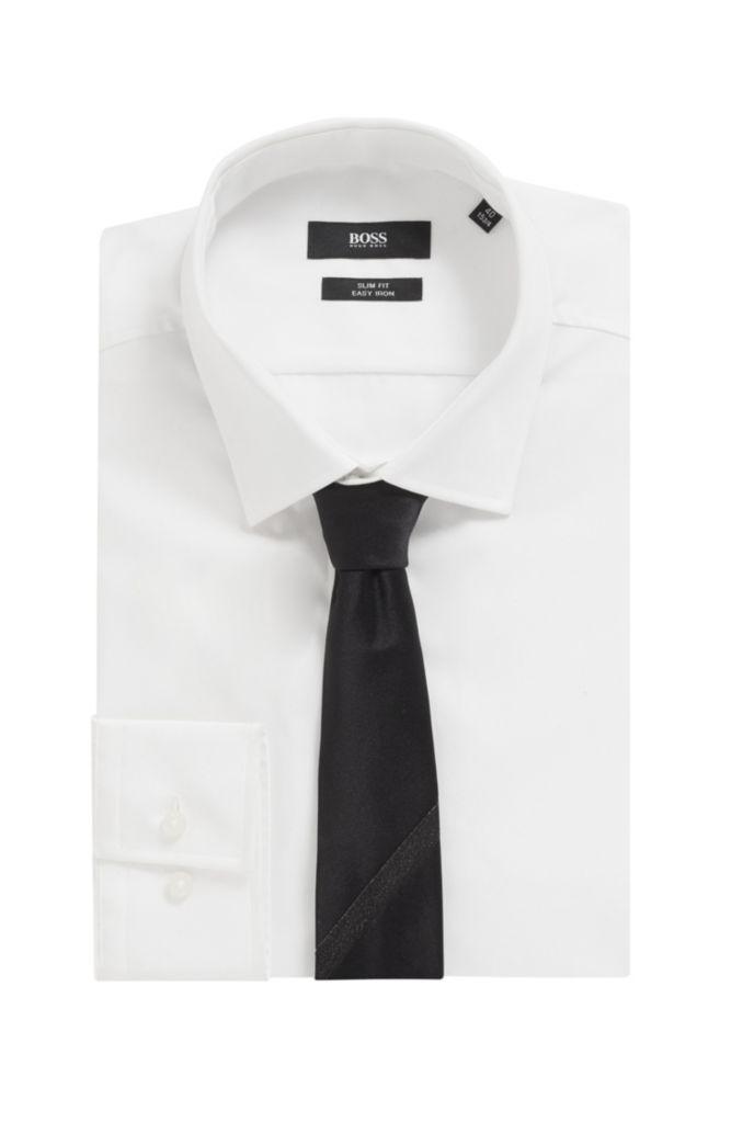 Krawatte aus italienischer Seide mit tonalem Glitzer-Tape