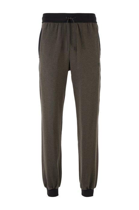 Pantalon d'intérieur en coton stretch rehaussé de soie, Gris