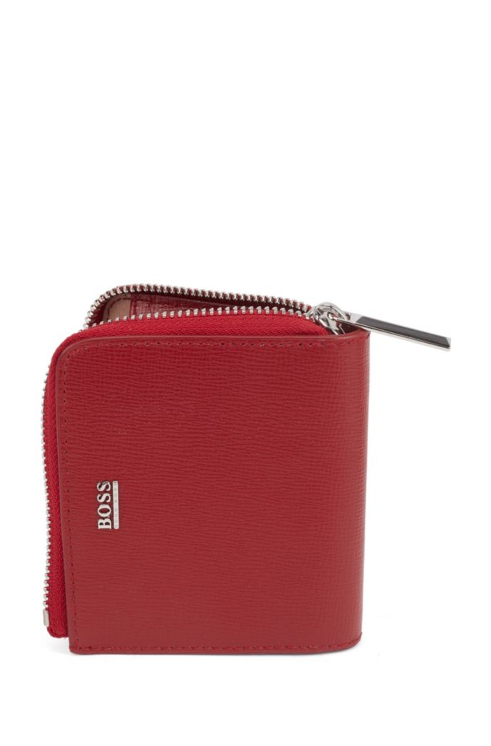 Zip-around wallet in Italian saffiano leather