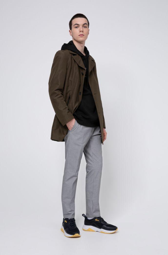 Pantalones extra slim fit en algodón elástico con cuadros Vichy