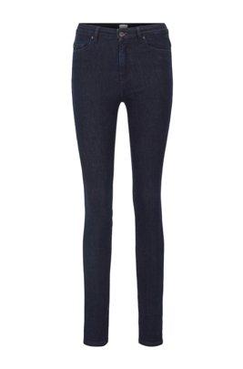 Skinny-Fit Jeans aus Stretch-Denim mit Rinse-Waschung, Dunkelblau