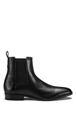 Chelsea boots in nappa leather with full-leather sole, Black