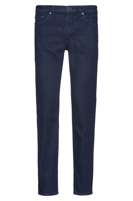 Regular-fit jeans in heavyweight stretch denim, Dark Blue