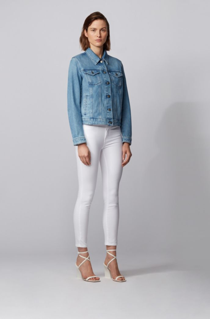 Skinny-fit jeans van witte super-stretchdenim