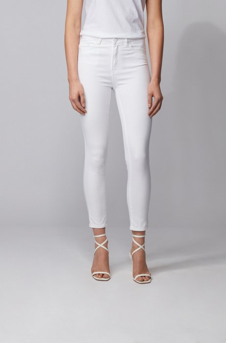 Skinny-fit jeans in white super-stretch denim, White