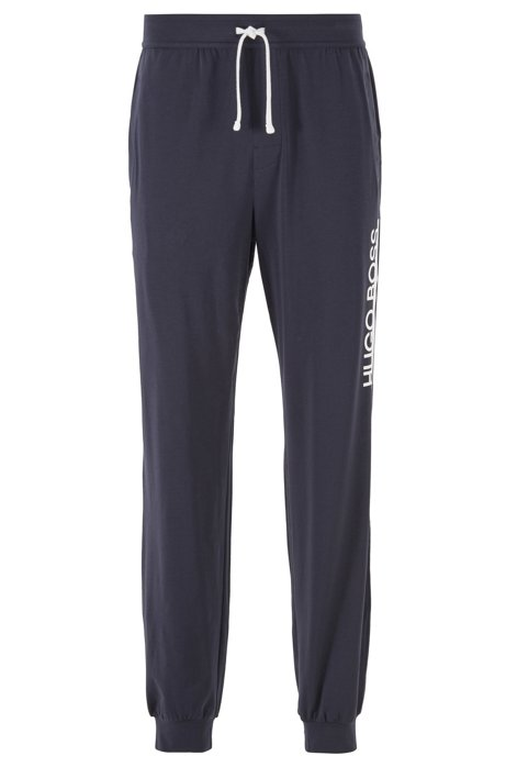Jersey pyjama trousers with new-season logo, Dark Blue