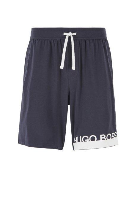 Pyjama-Shorts aus Jersey mit Logo der neuen Saison, Dunkelblau