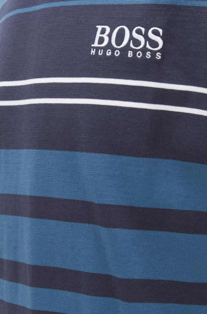 T-shirt de pyjama en coton à rayures horizontales