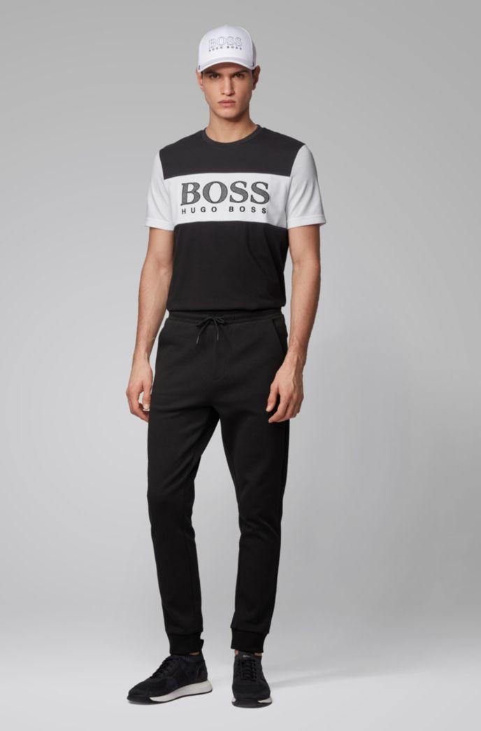 T-shirt color block avec logo imprimé à effet mesh